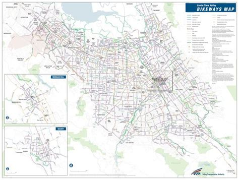 vta map santa clara county bikeways vta maplets