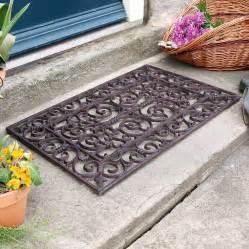 traditional rectangular outdoor cast iron doormat by dibor