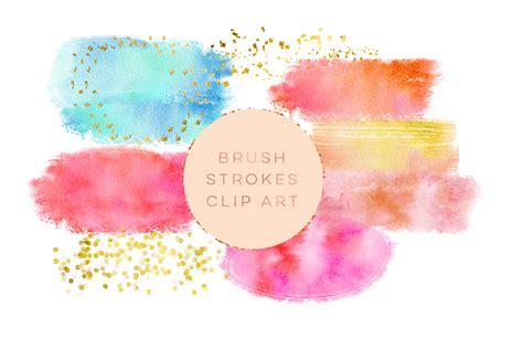 free glitter painting watercolor glitter brushes stroke wate design bundles