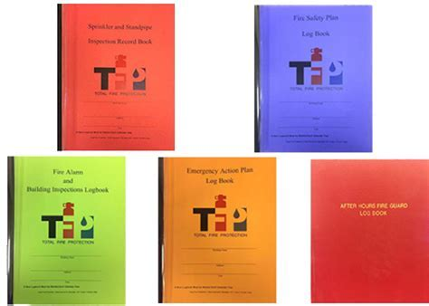 Fire Log Book   Total Fire Protection   Brooklyn, New York