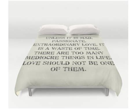 comforters with quotes on them typography duvet etsy