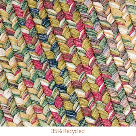 Buy Rainforest Multi Color Ultra Durable Braided Rugs