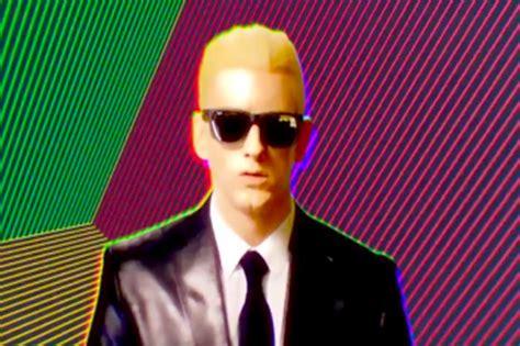 eminem rap god eminem goes back to the future in new rap god video