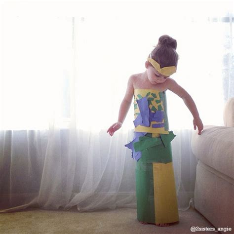 Make A Dress Out Of Paper - this 4 year makes paper dresses with and