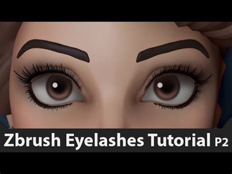 zbrush watch tutorial how to sculpt eyelashes in zbrush method 2 tutorial