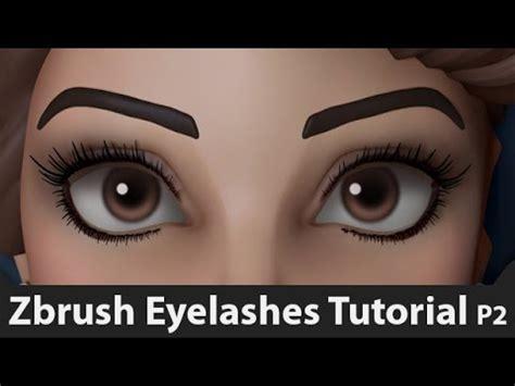 Zbrush Eyelashes Tutorial | how to sculpt eyelashes in zbrush method 2 tutorial