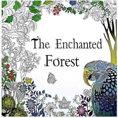 1 PCS Enchanted Forest Bird 24 Pages English Coloring Book