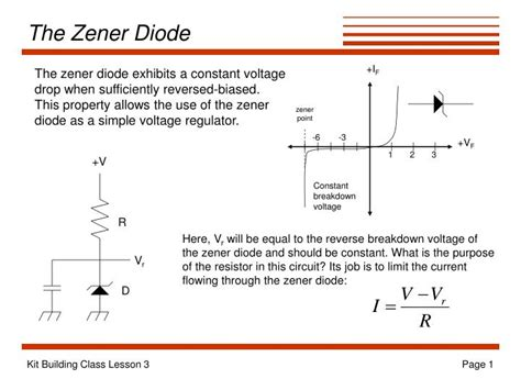diode code definition ppt the zener diode powerpoint presentation id 1798335