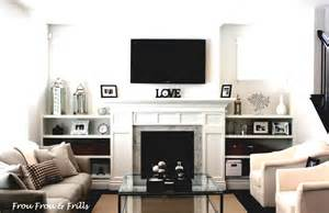 living room living room with tv above fireplace 40 tv wall decor ideas decoholic