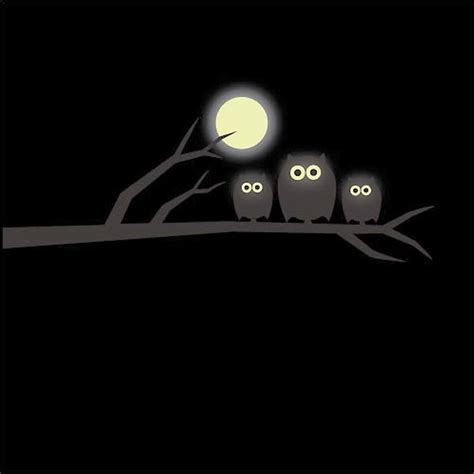 glow in the moon wall sticker glow in the owl and moon wall sticker bedroom wall