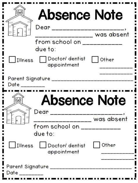 sle letter to school informing about childs absence 8 best perfect attendance images on pinterest candy