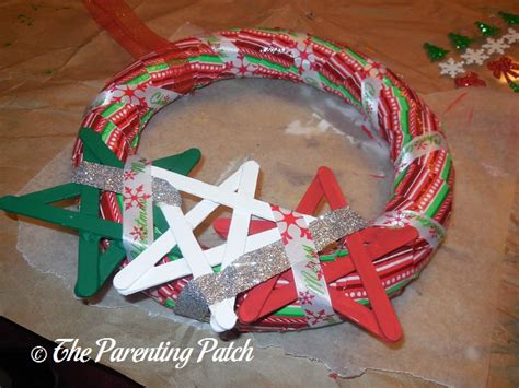 christmas pattern duct tape duct tape christmas wreath craft parenting patch