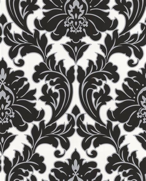 black and white embossed wallpaper arthouse opera byron black damask metallic wallpaper