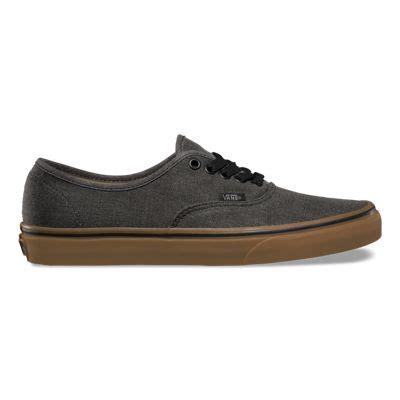Jual Vans Authentic Black Gum washed canvas authentic shop shoes at vans