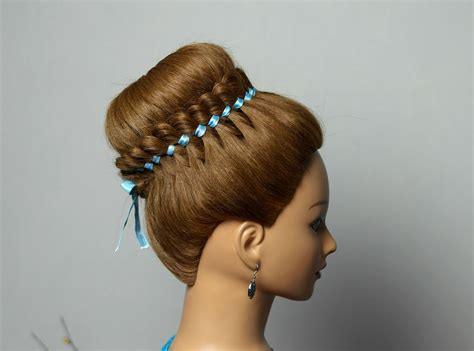 ribbon hairstyles braided hairstyle for hair with 4 strand ribbon braid