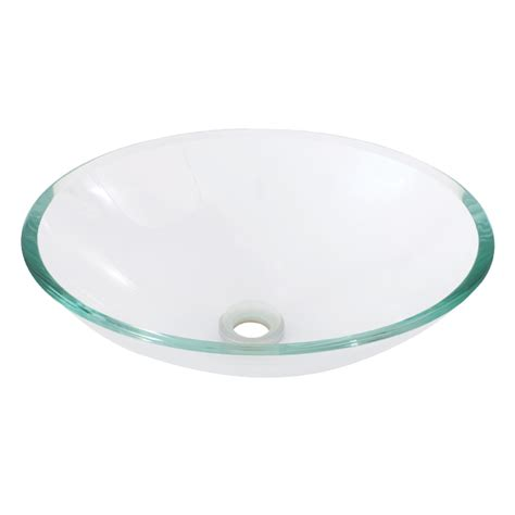 bathroom glass basins aquabrass oval crystal clear tempered glass basin