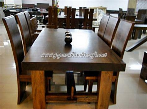 Meja Makan Bulat Kayu Jati kursi meja makan minimalis koin jati 8 kursi jual mebel