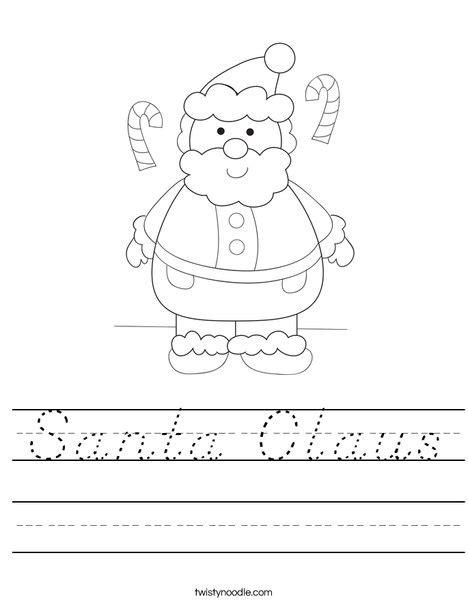 mrs claus coloring page twisty noodle santa claus worksheet d nealian twisty noodle