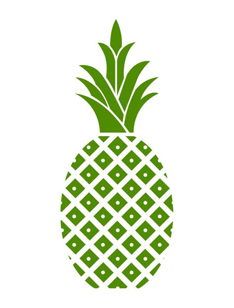 clipart pineapple hospitality pineapple green pineapple cropped free
