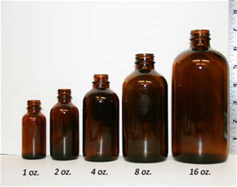 overview glass plastic container size conversion chart - 1 Oz Bottle Size