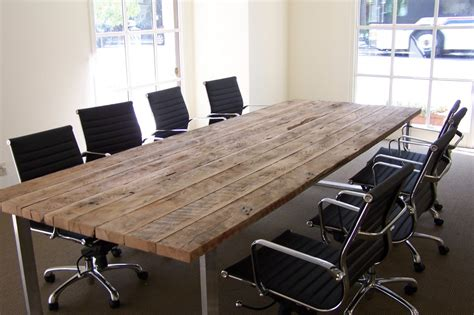 Reclaimed Wood Conference Table Reclaimed Wood Tables