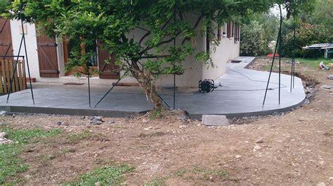 Terrasse En Ciment by Terrasse Bois Sur Plots Ciment Wraste