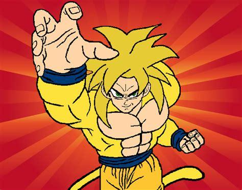 imagenes de goku animado dibujo de goku dios pintado por djgoku en dibujos net el