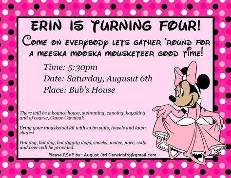 invitation fourth birthday card templates 4th birthday invitation wording free invitation
