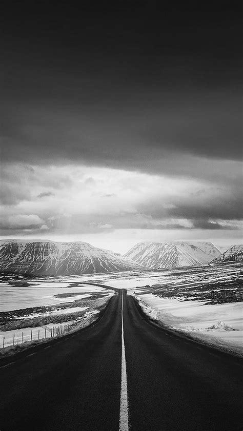 road  heaven snow mountain dark nature winter iphone