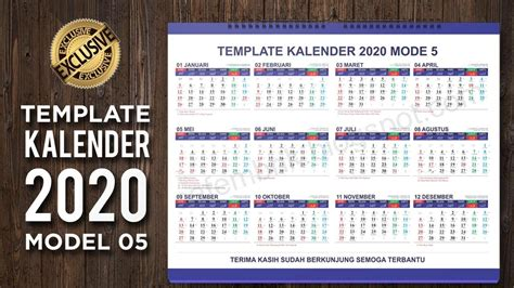 lengkap template kalender  model  format coreldraw ai  youtube