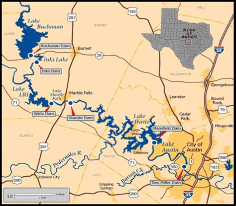 highland lakes texas map highland lakes
