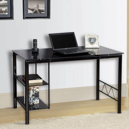 small glass top computer desk desks for and