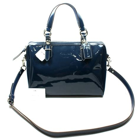 coach swing bag coach patent leather nancy satchel swing bag 24041