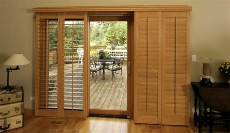 Wooden Shutters For Patio Doors Bypass Shutters For Patio Doors
