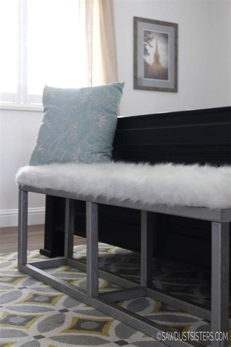 upholstered bench diy diy upholstered bench with faux metal frame sawdust sisters