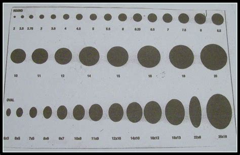 bead mm size chart free at last actual oval bead sizes millimeters