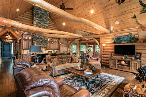 a mountain log home in new hshire