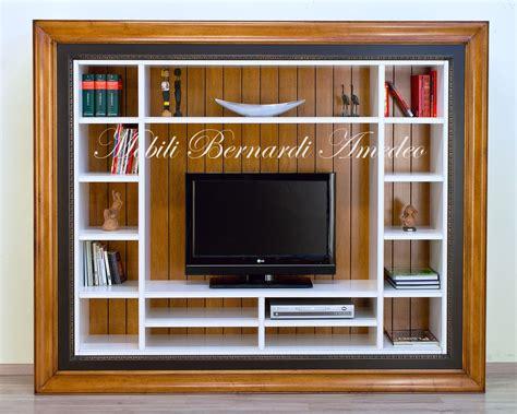 tv con cornice libreria porta tv librerie