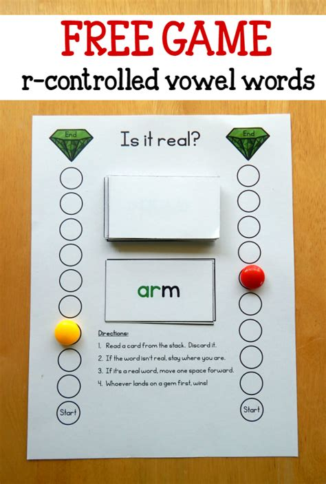 printable vowel games free game for words with r controlled vowels the