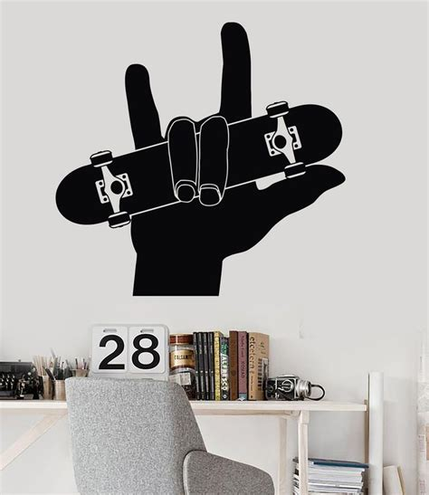 skateboard wall stickers 1000 ideas about boys skateboard room on