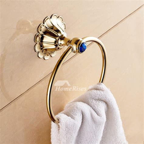 Smooth Circle Shaped Polished Brass Towel Ring Holder
