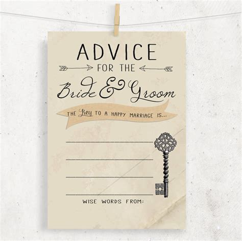 And Groom Advice Cards Template by Instant Advice For The Groom Wedding