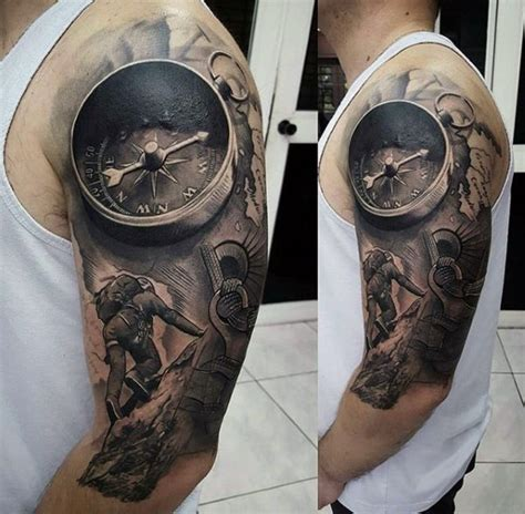 quarter sleeve mountain tattoo 50 unbelievable tattoos for men inconceivable ink design