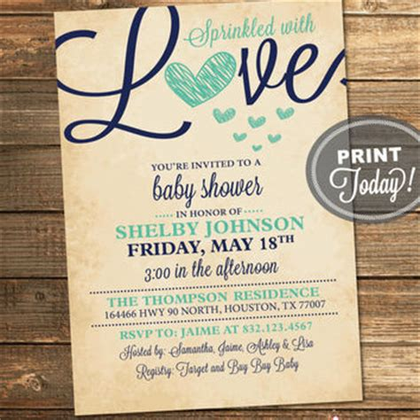 abstract baby shower invitation boys navy mint gold dot best sprinkle invitations for a boy products on wanelo