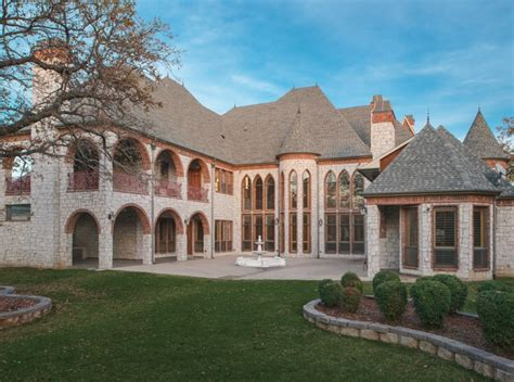 square foot castle  stone mansion  southlake