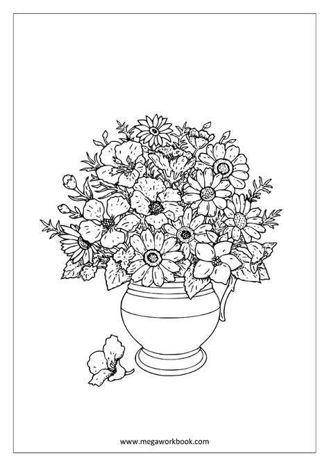 free coloring sheets trees plants and flowers