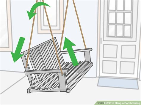 how to hang porch swing 3 ways to hang a porch swing wikihow