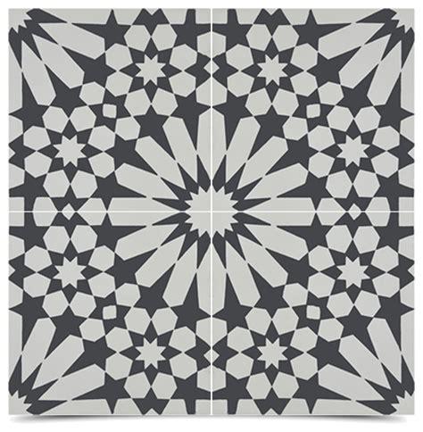 Handmade Cement Tiles - moroccanmosaictile house agdal handmade cement tile black