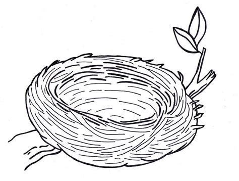 Empty Nest Clipart Black And White Clipartsgram