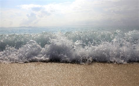at shore waves on the shore wallpaper 1205307